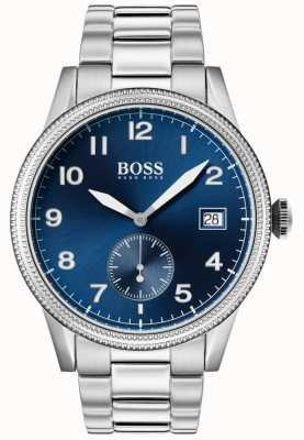 Hugo Boss |男士遗产手表|不锈钢|蓝色表盘| 1513707