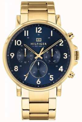 Tommy Hilfiger |男士黄金和海军丹尼尔手表| 1710384
