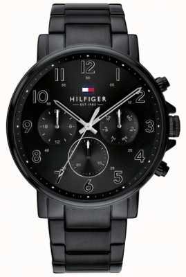 Tommy Hilfiger |男装黑色daniel手表| 1710383