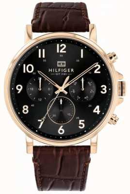 Tommy Hilfiger |男士棕色皮革daniel手表| 1710379