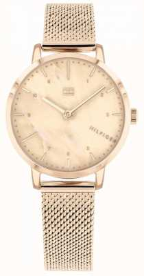 Tommy Hilfiger |女式玫瑰金百合手表| 1782042