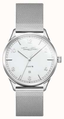 Thomas Sabo |不锈钢银网手链|白色表盘| WA0338-201-202-40