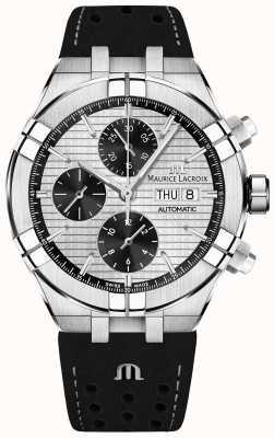 Maurice Lacroix Aikon自动计时码表黑色熊猫表盘黑色表带 AI6038-SS001-132-1