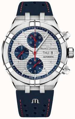 Maurice Lacroix Aikon自动限量版蓝色/红色表盘蓝色表带 AI6038-SS001-133-1