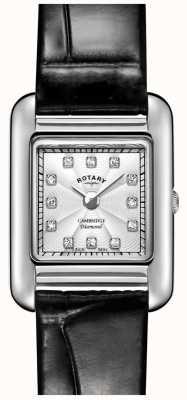 Rotary |女士黑色皮革手表| LS05285/70/D