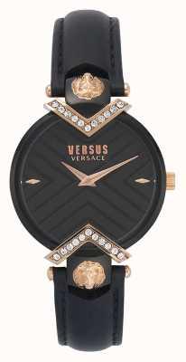 Versus Versace  女士黑色皮表带  VSPLH1419