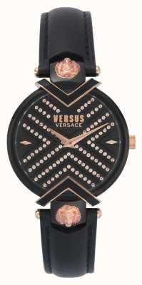 Versus Versace |女士黑色皮表带|图案表盘| VSPLH1519