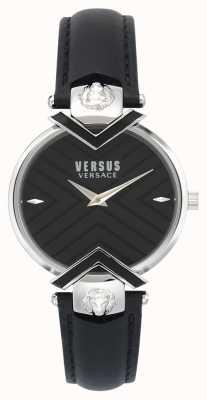 Versus Versace |女士黑色皮表带| VSPLH0119
