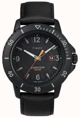 Timex | gallatin solar black leather |黑色表盘| TW4B14700D7PF