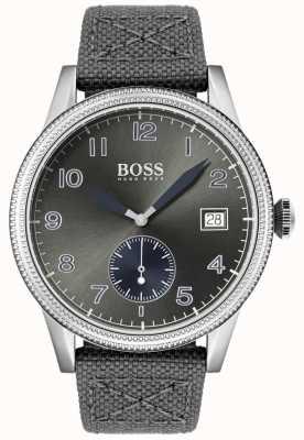 Boss |男士灰色帆布表带|传统手表| 1513683