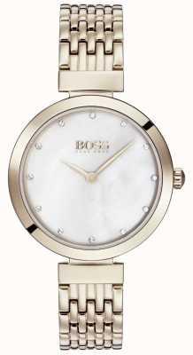 Hugo Boss |女士淡玫瑰金金属手链| 1502480