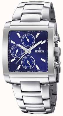 Festina |男士不锈钢计时码表|蓝色表盘| F20423/2