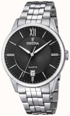 Festina |男士不锈钢手链|黑色表盘| F20425/3