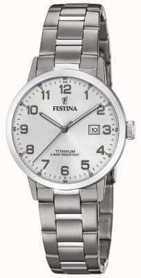 Festina |女式钛金表|银色表盘|钛手链| F20436/1