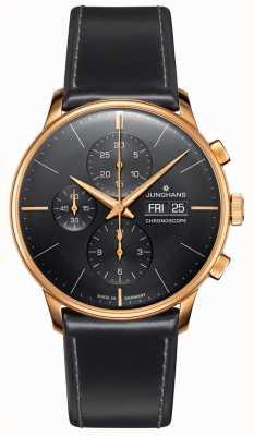 Junghans Meister chronoscope |黑色皮革表带| 027/7923.01