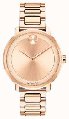 Movado 大胆|玫瑰金镀金手表| 3600503