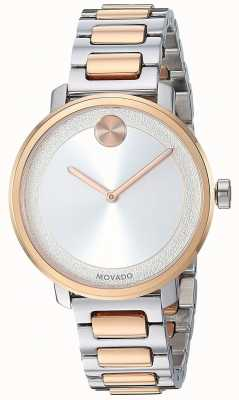 Movado 大胆|双色不锈钢表带| 3600504