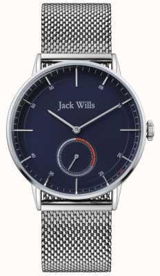 Jack Wills |男子巴特森二世|钢网手链|蓝色表盘| JW002BLMH