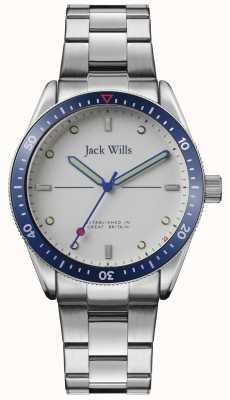 Jack Wills |男士磨湾|不锈钢手链|银色表盘| JW015SLSL