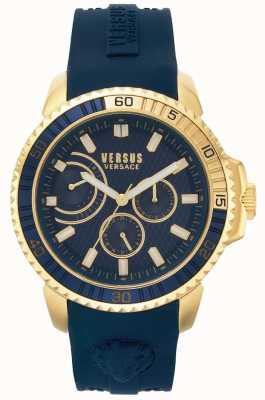Versus Versace |男子阿伯丁|蓝色橡胶表带|蓝色表盘| VSPLO0219