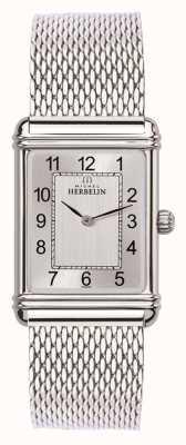 Michel Herbelin 男士esprit艺术装饰不锈钢网银色表盘 17468/22BM