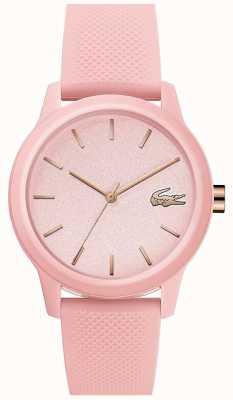 Lacoste |女子12-12 |粉色硅胶表带|粉色表盘| 2001065