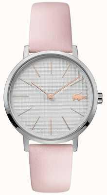 Lacoste |女子月亮|粉色皮革表带|银色表盘| 2001070