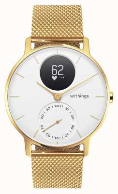 Withings 钢hr 36mm限量版金米兰(+橡胶表带) HWA03B-36WHT-GOLD-MESH GOLD-ALL-INT