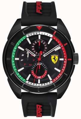 Scuderia Ferrari |男士forza |黑色橡胶表带|黑色计时码表| 0830577