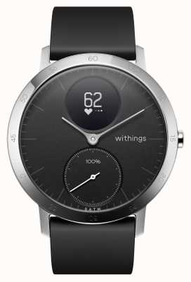 Withings 钢hr hr 40mm黑色硅胶表带 HWA03B-40BLACK-ALL-INTER