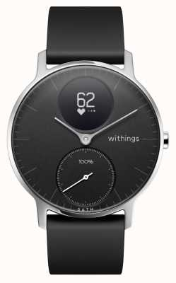 Withings 钢hr hr 36mm黑色硅胶表带 HWA03B-36BLACK-ALL-INTER