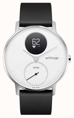 Withings 钢hr 36mm白色表盘黑色硅胶表带 HWA03B-36WHITE-ALL-INTER