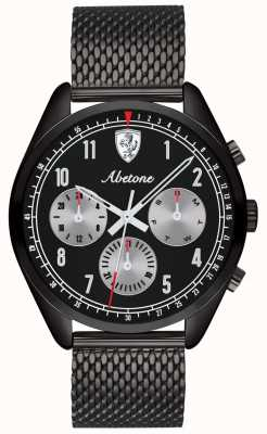 Scuderia Ferrari |男士教唆|黑色网状手链|黑色表盘| 0830573