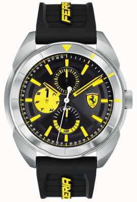 Scuderia Ferrari |男士forza |黑色橡胶表带|黑/黄色表盘| 0830575