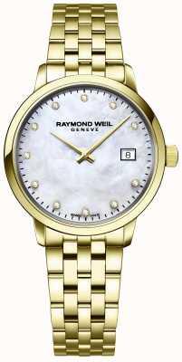 Raymond Weil |女性toccata钻石|金色不锈钢手链| 5985-P-97081