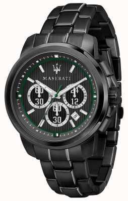 Maserati Royale计时码表黑色表盘黑色pvd镀钢 R8873637004