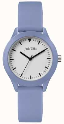 Jack Wills |女士蓝色橡胶表带|白色表盘| JW008LTBL