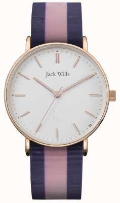 Jack Wills |女士sandhill双色硅表带|白色表盘| JW018PKBL