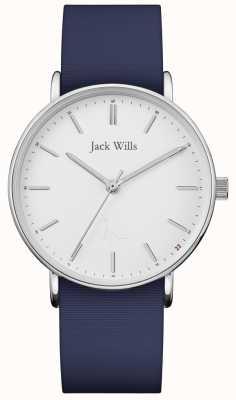Jack Wills |女士sandhill蓝色硅胶表带| JW018WHNV