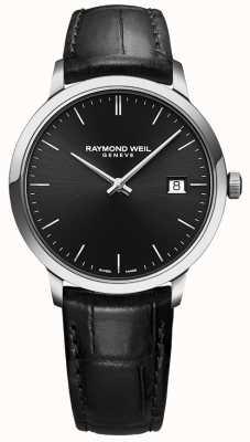 Raymond Weil  男士托卡塔黑色皮革 黑色表盘  5485-STC-20001