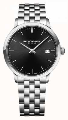 Raymond Weil |男士toccata不锈钢手链|黑色表盘| 5485-ST-20001