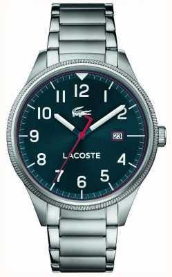 Lacoste |男士大陆|不锈钢手链|蓝色表盘| 2011022