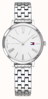 Tommy Hilfiger |女式不锈钢手链|白色表盘| 1782056