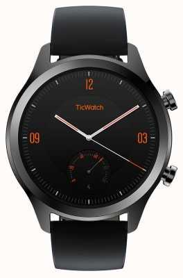TicWatch C2 | onyx smartwatch |黑色皮革表带 130688-WG12036-ONYX