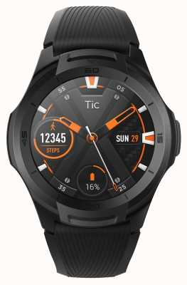 TicWatch S2 |午夜智能手表|黑色硅胶表带 131585-WG12016-BLK