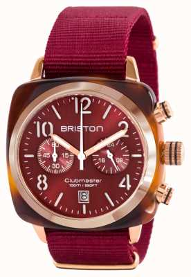 Briston 经典的clubman醋酸纤维金红色北约表带 15140.PRA.T.8.NBDX