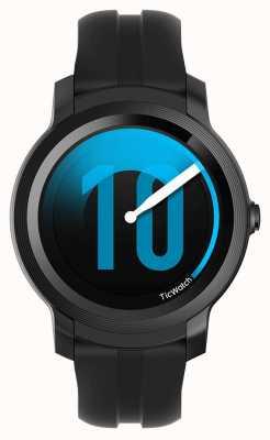 TicWatch E2 |影子smartwatch |黑色硅胶表带 131586-WG12026-BLK