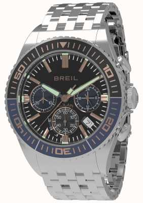 Breil |男士蝠1970 1970太阳能|黑色表盘|深蓝色/黑色表圈 TW1822