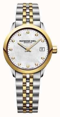Raymond Weil 女式自由职业者钻石双色不锈钢 5626-STP-97081