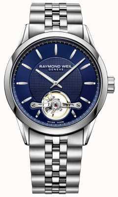 Raymond Weil 男士自由职业者自动蓝色表盘不锈钢 2780-ST-50001